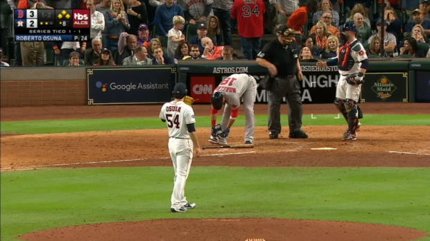 Moreland's RBI hit-by-pitch