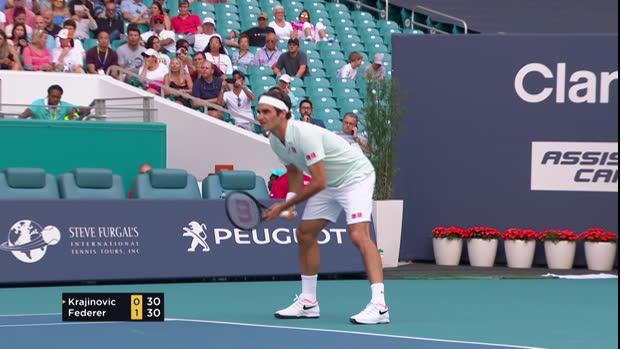 Tennis : Miami - Federer monte en puissance