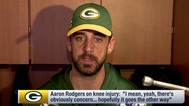 Green Bay Packers quarterback Aaron Rodgers 'concerned' about knee injury getting worse