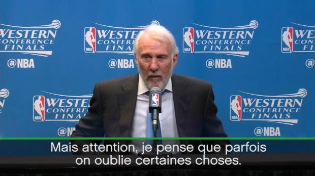 "Basket : NBA - Playoffs - Popovich - ""Les Warriors ont trop de talent"""