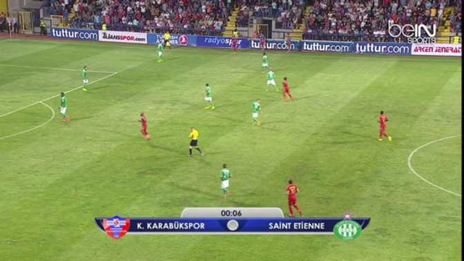 L.Europa : Karabükspor 1-0 ASSE