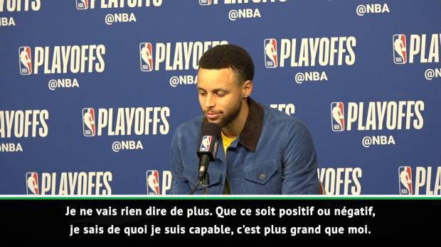 """Basket : NBA - Curry - """"Ma confiance ne faiblit pas dans ce genre de moments"""""""