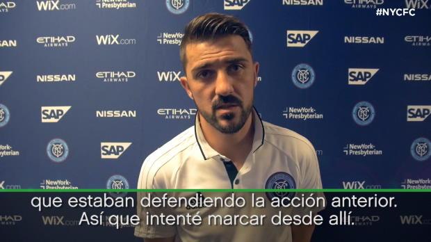 """David Villa: """"Uno de los goles más difíciles de mi carrera"""""""