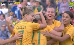Lisa De Vanna produced a piece of stunning skill to fire the Matildas 1-0 ahead against Brazil in Penrith.