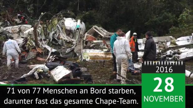 On This Day: Chapecoense-Tragödie jährt sich