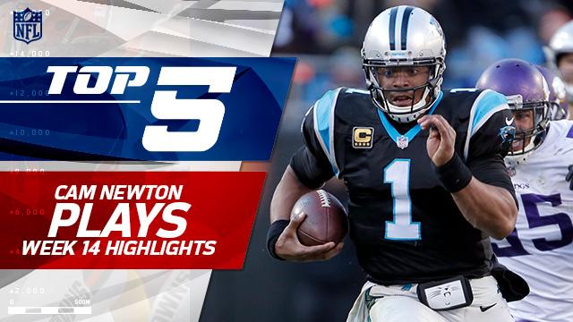 Cam Newton Top 5 Plays | Week 14