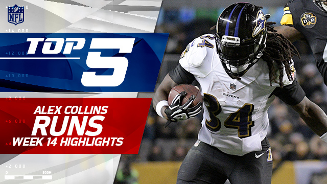Top 5 Alex Collins runs | Week 14