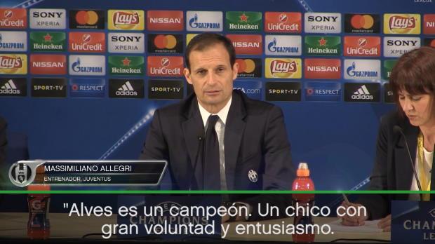 "Allegri: ""Alves un ejemplo"""