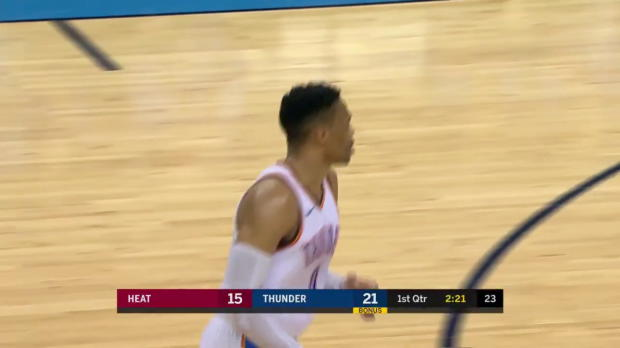 WSC: Russell Westbrook (29 points) Highlights vs. Miami Heat, 03/23/2018
