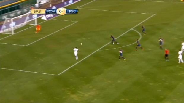 لقطة: كرة قدم: عمر صادق يعادل الكفّة لروما أمام سان جيرمان