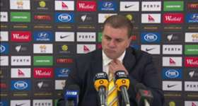 Coach Ange Postecoglou praised the Socceroos performance after they overwhelmed Bangladesh in Perth.