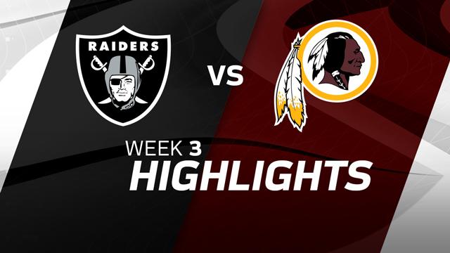 Oakland Raiders vs. Washington Redskins highlights | Week 3