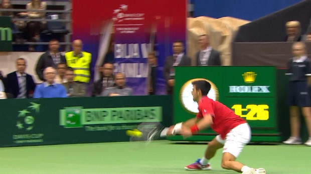 NEWS - Coupe Davis - Le lob magique de Djokovic contre Ramos Vinolas