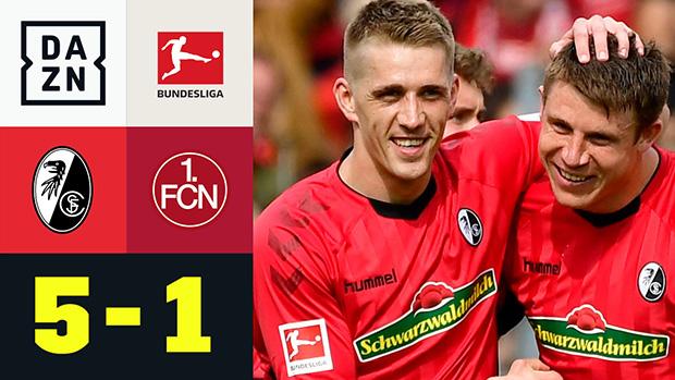 Bundesliga: SC Freiburg - 1. FC Nürnberg | DAZN Highlights