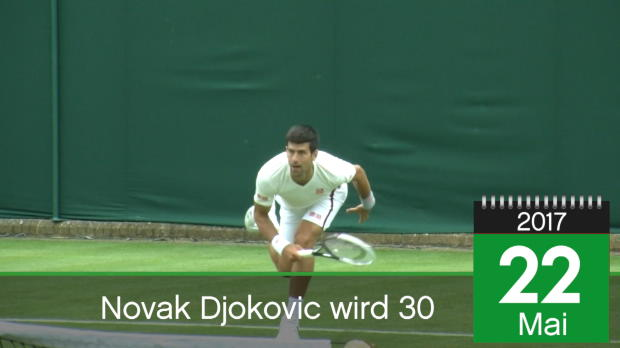 Born this day: Djokovic feiert den 30.