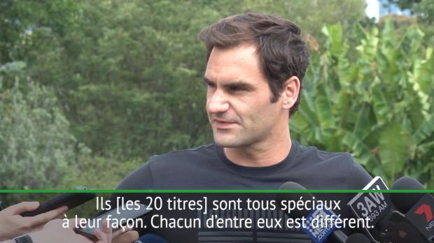 : Open d'Australie - Federer - 'Pendant une seconde, j?ai cru perdre cette finale'
