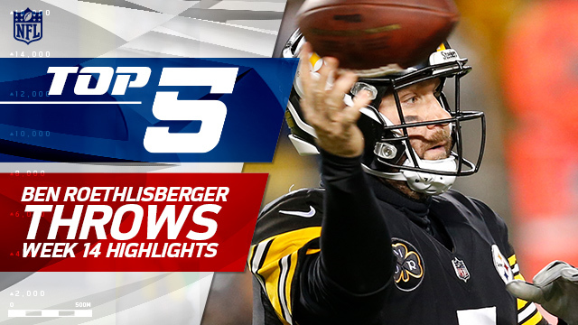 Top 5 Ben Roethlisberger throws | Week 14