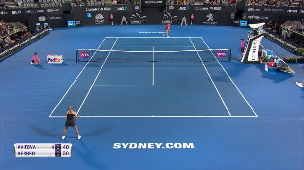 Sydney: Kvitova zwingt Kerber in die Knie