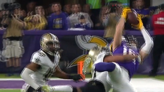 freeD: Another spectacular crucial catch for Adam Thielen | NFC Divisional Round