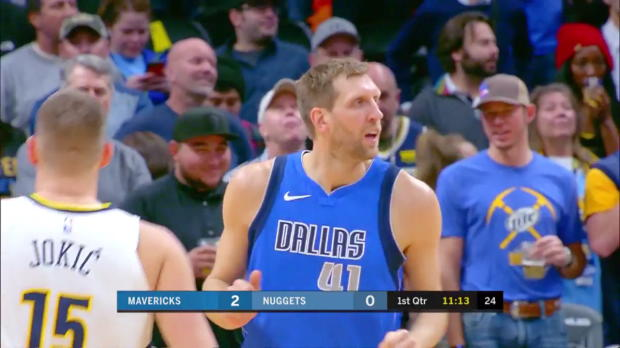 WSC: Dirk Nowitzki 6 points vs the Nuggets