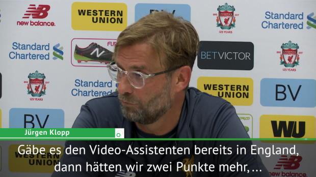 """Klopp zum Video-Referee: """"Vier Punkte mehr!"""""""
