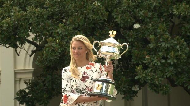 AO: So feierte Angie Kerber ihren Sieg 2016