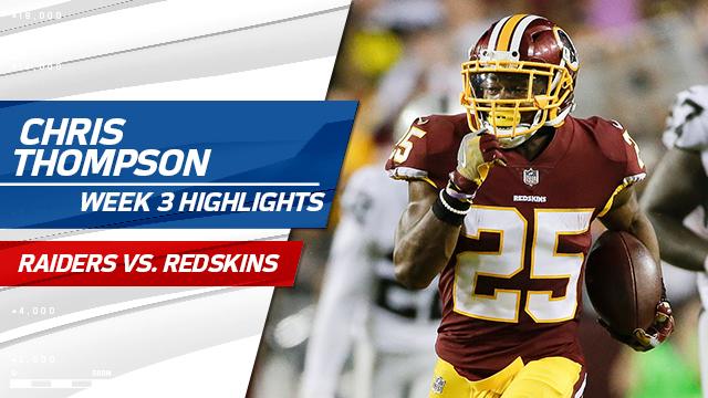 Washington Redskins running back Chris Thompson highlights | Week 3