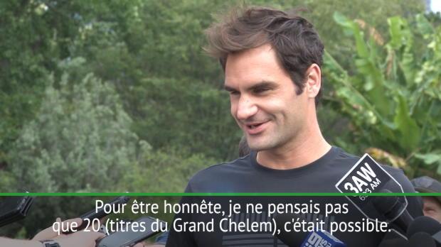 """Basket : Open d'Australie - Federer - """"24 titres du Grand Chelem, c'est trop loin !"""""""