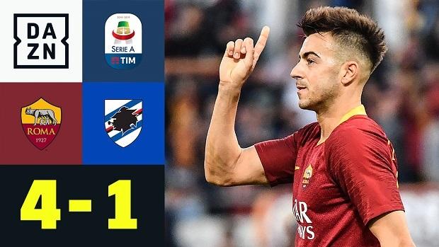 Serie A: AS Rom - Sampdoria   DAZN Highlights