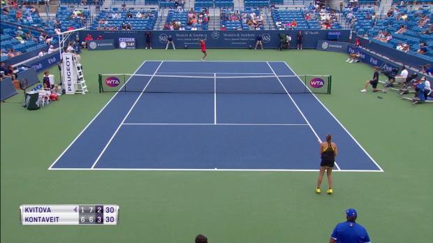 : Cincinnati - Kvitova qualifiée dans la douleur