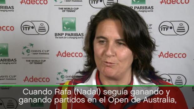 "Copa Davis - Conchita Martínez: ""Cuando Rafa seguía ganando en Australia, llame a Feli"""