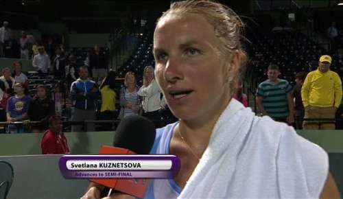 Kuznetsova Interview: WTA Miami QF