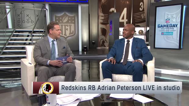 Washington Redskins running back Adrian Peterson: I want to sit back and say I have a championship ring