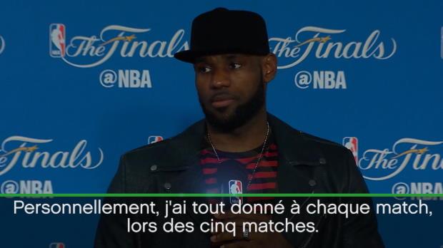 """Basket : Finales - LeBron - """"Je n'ai aucune raison de baisser la tête"""""""