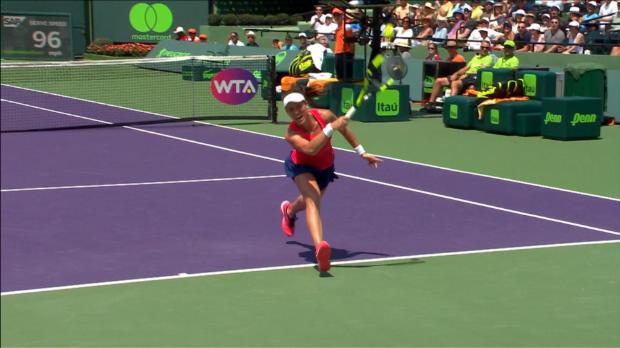 WTA - Miami - L'extraordinaire lob de Wozniacki