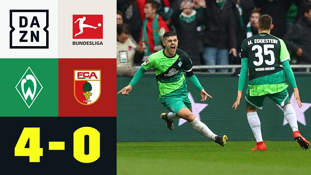 Bundesliga: SV Werder Bremen - FC Augsburg | DAZN Highlights