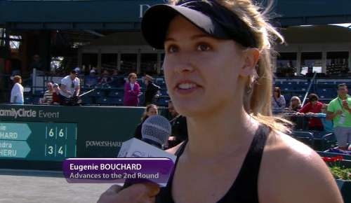 Bouchard Interview: WTA Charleston 1R