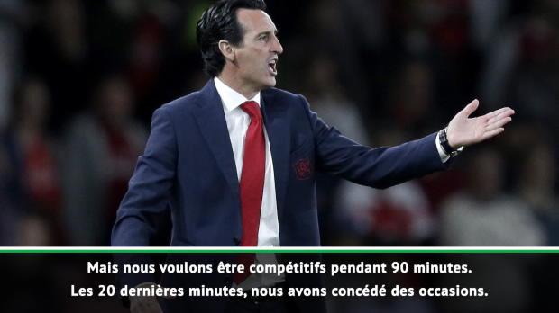 Arsenal - Emery - 'Le regret d'avoir encaissé deux buts'