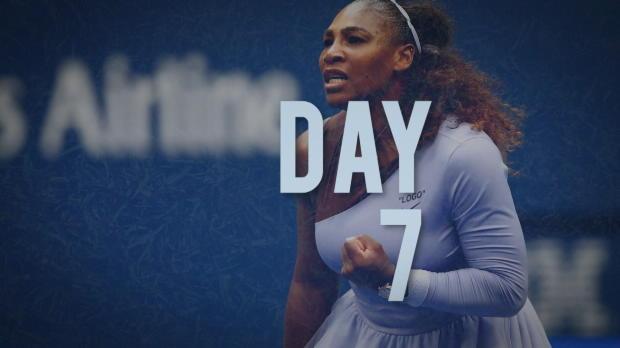 US Open: Serena souverän, Del Potro überragend