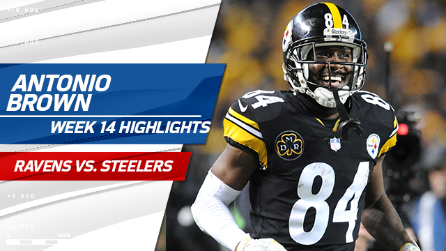 Watch all of Antonio Brown's 213 receiving yards | Week 14
