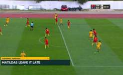 The Westfield Matildas have finished top of Group C after a thrilling 2-1 win over China in the Algarve Cup overnight.