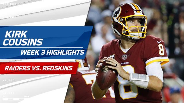 Washington Redskins QB Kirk Cousins highlights | Week 3