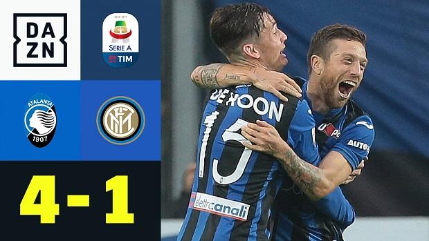 Serie A: Atalanta - Inter Mailand   DAZN Highlights