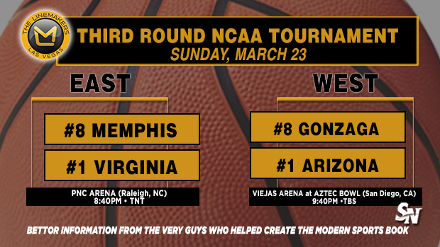 Memphis vs UVA, Gonzaga vs Arizona
