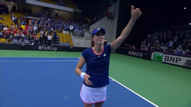Tennis : Fed Cup - Cornet crée la sensation contre Mertens et la France mène 2-0