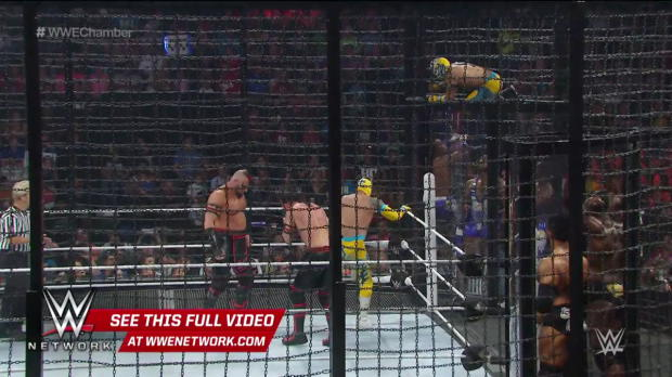 WWE Network: WWE Tag Team Championship Elimination Chamber Match: Elimination Chamber 2015