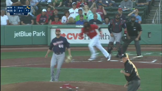 Hanley's two-run double