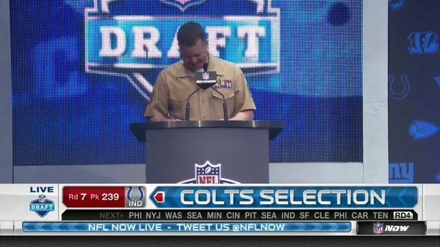 Colts pick Trevor Bates No. 239