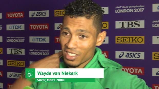 """Van Niekerk froh: """"Habe gute Show geliefert"""""""