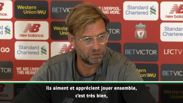 Liverpool - Klopp - 'Salah, Mané et Firmino ne sont pas en compétition'